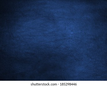 Blue leather texture closeup, useful as background