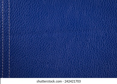 blue Leather texture isolated in studio