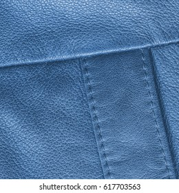 blue leather texture,seams. Useful for background