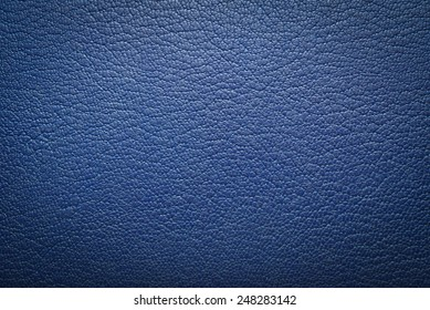blue leatherette texture as background