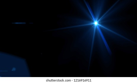 Blue lens flare light