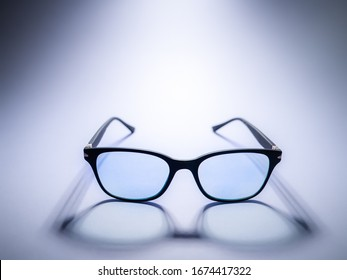Blue light blocking glasses. Black frame glasses for filtering blue light from the computer. Prevent Computer Vision Syndrome. Eye protection