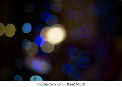 blue light bokeh