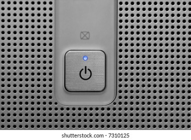 Blue light power button in electronic device