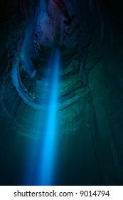 Blue Light Ruby Falls