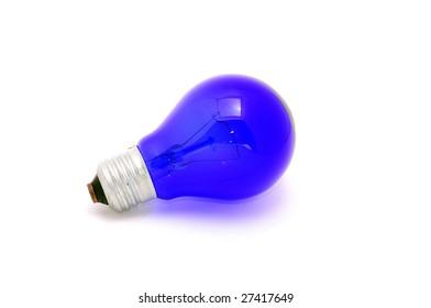 Blue Lightbulb isolated