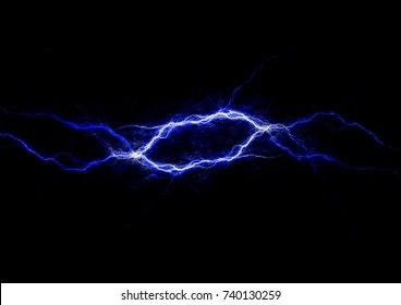 Blue lightning, abstract fractal background
