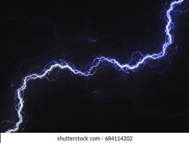 Blue lightning, plasma electrical background