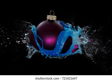 Blue liquid released by an exploding bauble
