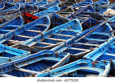 blue little boat