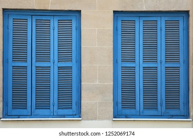 Blue locked windows, horizontal picture