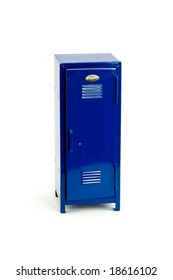 Blue Locker Isolated on a White Background