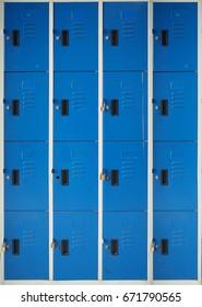 Blue lockers texture
