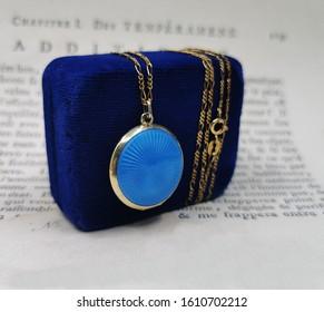 blue locket jewelry photo locket