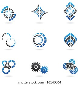Blue Logos to go with your company name (set of 9)