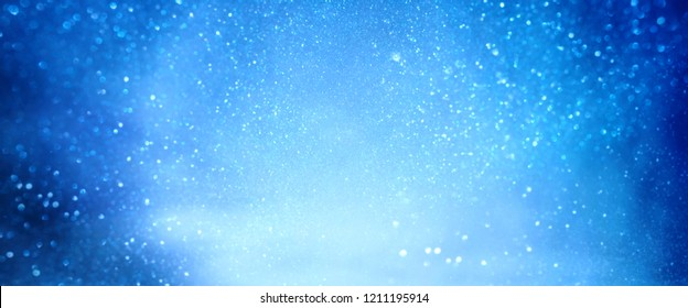Blue luminous winter background for a christmas decoration