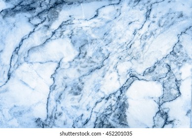 Blue marble patterned texture background for interior design