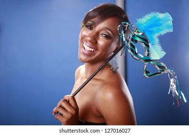 Blue Mardi Gras, happy carnival