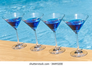 Blue Martini by the Pool