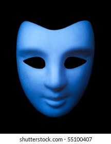 Blue mask isolated on black