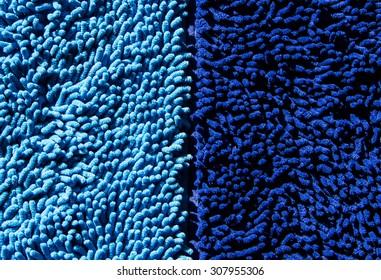 Blue mat close up background.