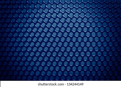 blue metal background with light reflection i