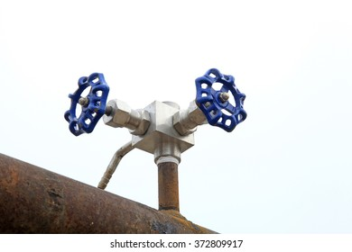 blue metal wheel, closeup of photo