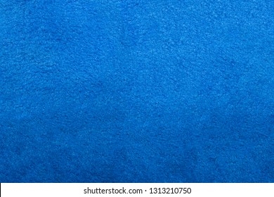 Blue microfiber texture.Microfiber background is blue.