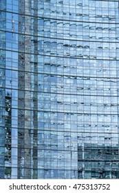 Blue mirror glass building