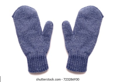 Blue mittens,isolated