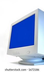 blue monitor CRT