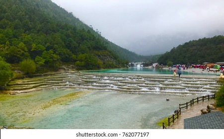 Blue moon valley cascade river lijiang china