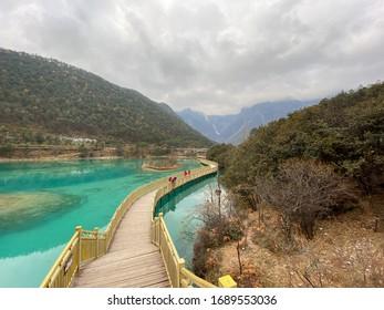 Blue Moon Valley in Jade Dragon Snow Mountain, Lijiang, Yunnan China.