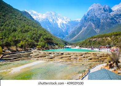 Blue moon valley in lijiang city yunan , China.