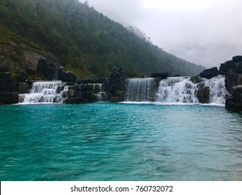 Blue moon valley waterfall at jade mountain lijiang china