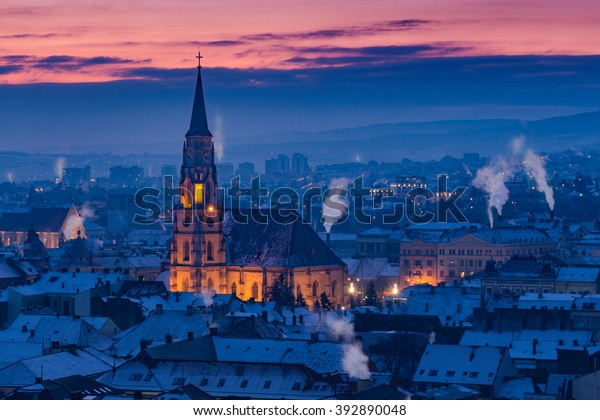 Blue morning in Cluj Napoca