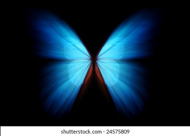 Blue morpho with zoom effect