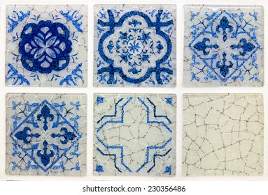 blue mosaic tile in moroccan style