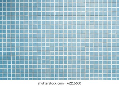 blue mosaic tiles texture with white filling