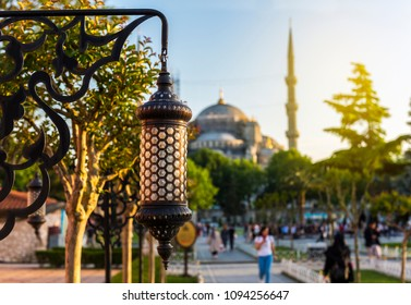 The Blue Mosque in Istanbul, Turkey. (Sultanahmet Camii).