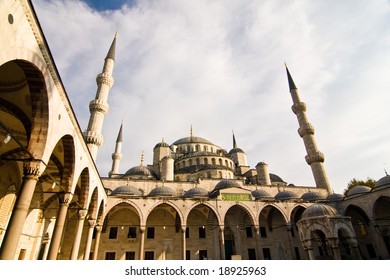 Blue Mosque, Sultan Ahmed Mosque, inner courtyard, Istanbul, Turkey