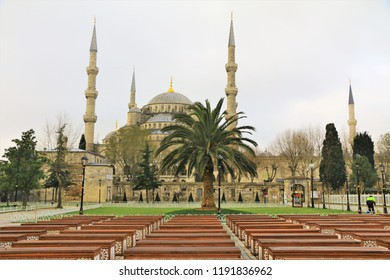 Blue Mosque and Sultan Ahmed Square in Istanbul, Turkey