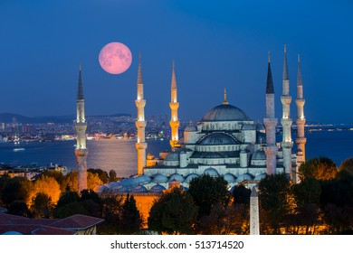 """The Blue Mosque, (Sultanahmet Camii), Istanbul, Turkey """"Elements of this image furnished by NASA"""