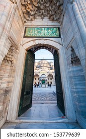 The blue mosque's gate in Istanbul