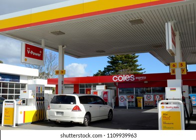 Blue Mountains, New South Wales, Australia. June 2018. A Shell Service Station at Lawson in the Blue Mountains.