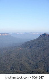 Blue Mountains, NSW, Australia, with the blue hue of the oil from the eucalypt trees