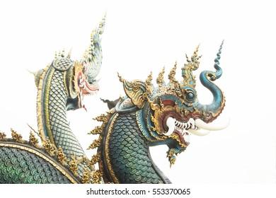 Blue Naka colorful symbol of Wat rang sou tenn Chieng Rai