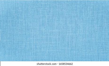 Blue natural cotton linen textile texture background