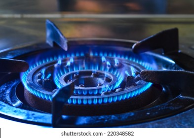 Blue Natural Gas Flames