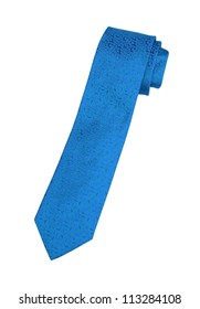 blue neck tie isolated on white background